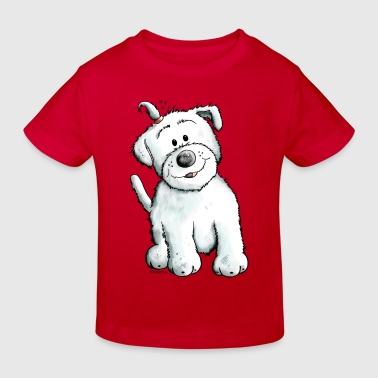 Cute Malteser - Kids' Organic T-shirt