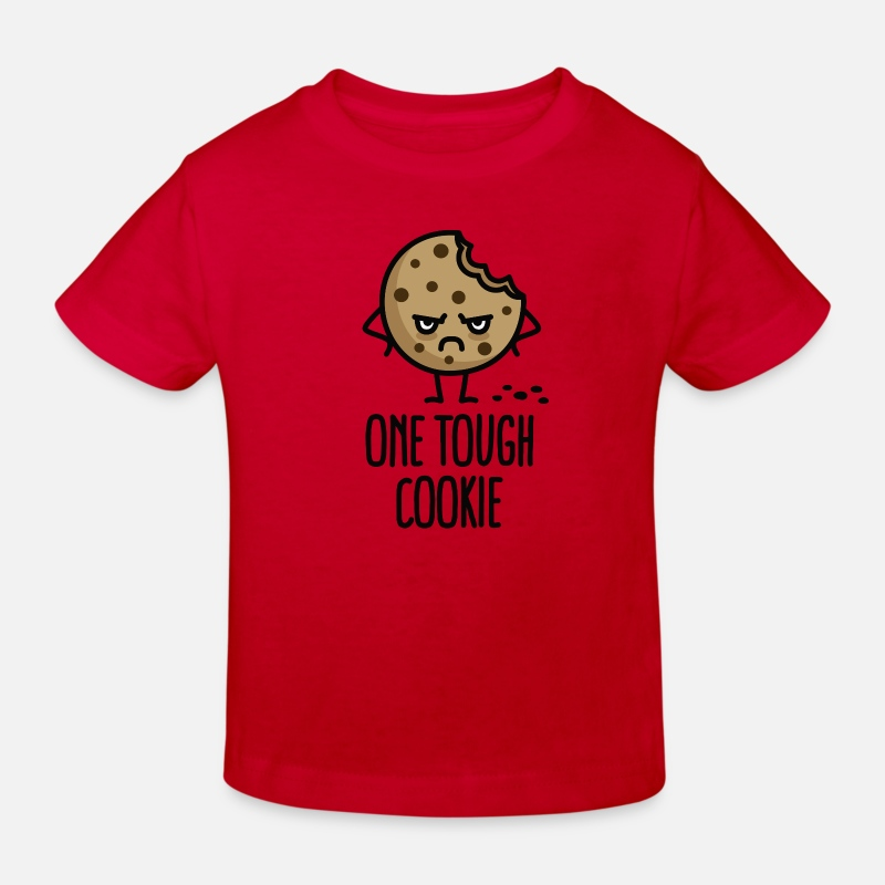 One Tough Cookie T-Shirts - One tough cookie - Kids' Organic T-Shirt red