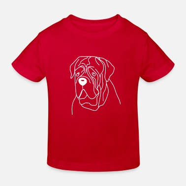 Bordeaux mastiff dog shirt shirt dog heart love - Kids' Organic T-Shirt