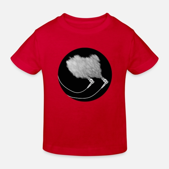 Rock Vêtements Bébé - Earphones Smoke - T-shirt bio Enfant rouge