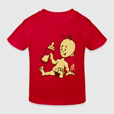 Baby with a milk bottle - Kids' Organic T-Shirt