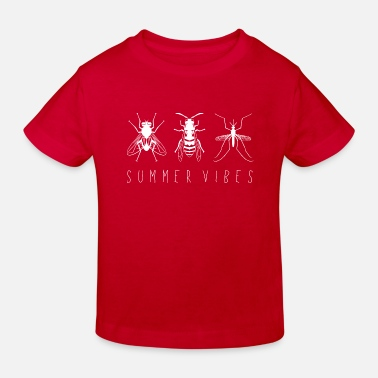 Mosquito Fly wasp mosquito _SummerVibes _white_lefthand - Kids' Organic T-Shirt