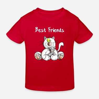 Cadeau Best Friend Best Friends - Chat - Souris - Cadeau  - T-shirt bio Enfant