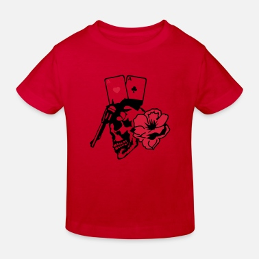 Flingue Mort tete mort poker as pistolet arme skull9 - T-shirt bio Enfant