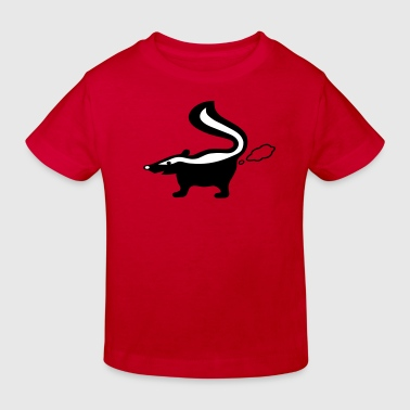stinktier stinker stinkerchen skunk tier - Kinder Bio-T-Shirt