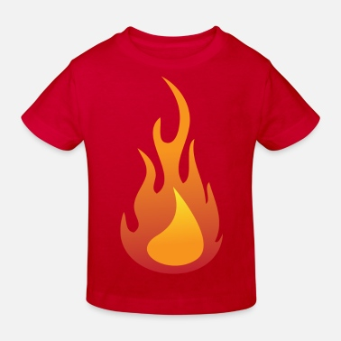 Flamme Kinder Feuer / Flamme - Kinder Bio-T-Shirt