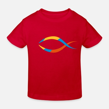 Fish Symbol Fish as a Christian symbol - Kids' Organic T-Shirt