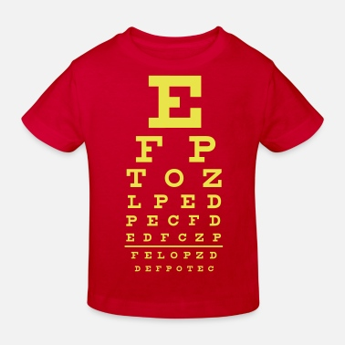 Geek eye chart - Sehtest - Kinder Bio T-Shirt