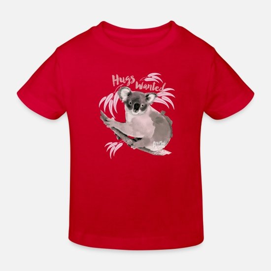 First Day Of School Baby Clothes - Animal Planet hugs wanted Kid's T-Shirt - Kids' Organic T-Shirt red