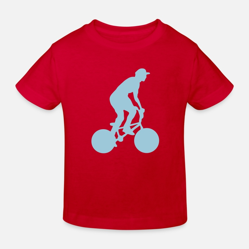 Bike T-shirts - velo8 bmx bike freestyle cross - T-shirt bio Enfant rouge