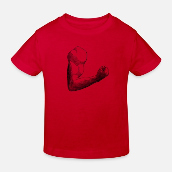 Gift Idea Baby Clothes - muscleman - Kids' Organic T-Shirt red