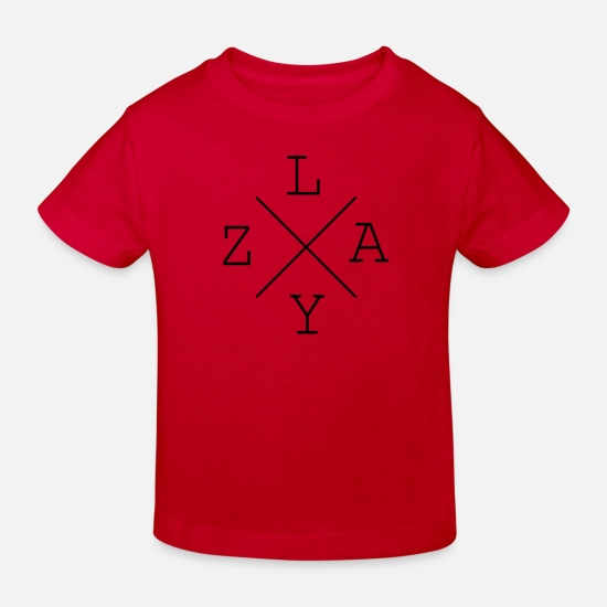 Gift Idea Baby Clothes - LAZY - Kids' Organic T-Shirt red