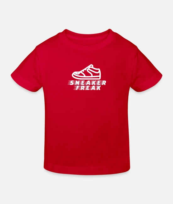Sneakers T-Shirts - Sneaker freak - Kids' Organic T-Shirt red