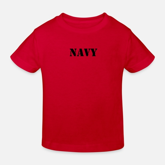 Army Baby Clothes - NAVY - Kids' Organic T-Shirt red