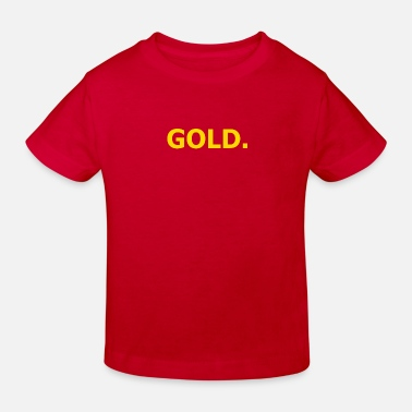 Gold Beach gold - Kids' Organic T-Shirt