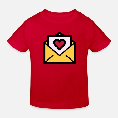 Valentines Day Love letter for Valentine's Day - Kids' Organic T-Shirt