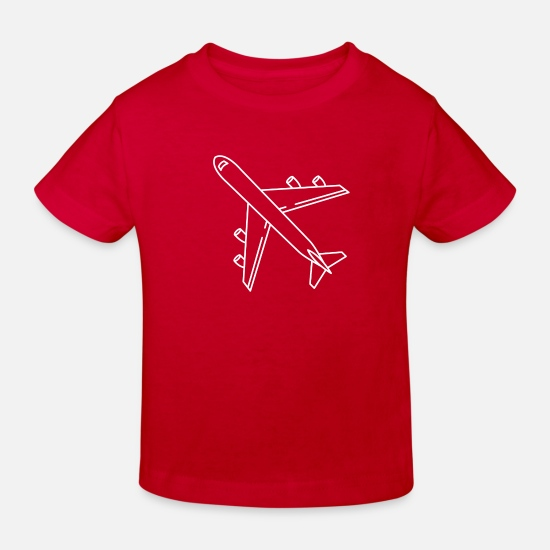 Flight Baby Clothes - jet - Kids' Organic T-Shirt red