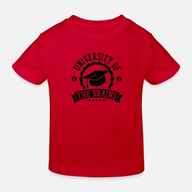 Mester university_of_the_brains_f1 - Økologisk T-shirt til børn