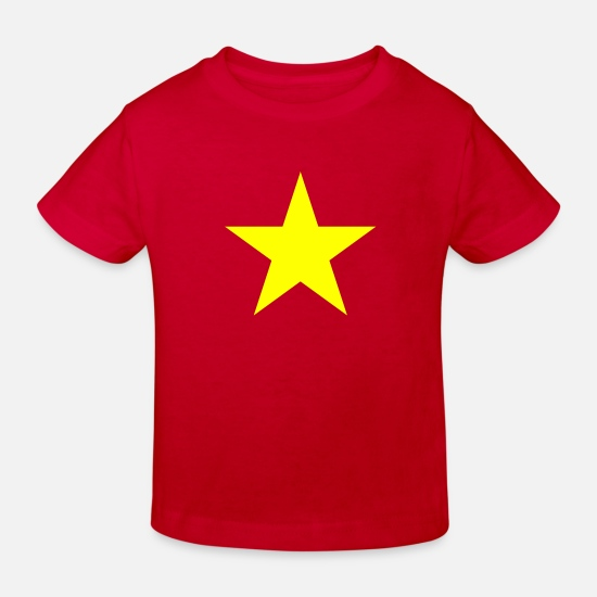 Birthday Baby Clothes - STAR SHIRT - Kids' Organic T-Shirt red