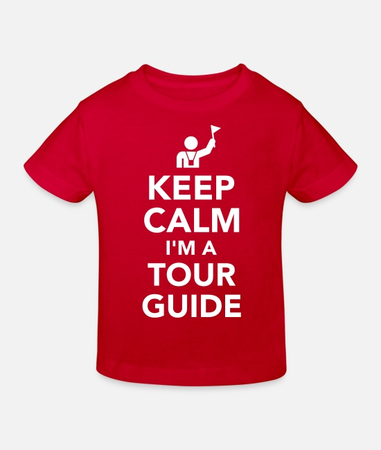 Sight Seeing Baby Clothes - Tour guide - Kids' Organic T-Shirt red