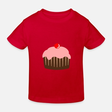 a953e3c5b62 Cupcake kage slik kirsebær Baseball T-shirt til børn   Spreadshirt