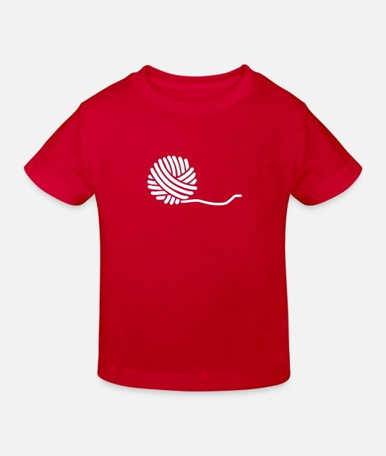 Wolle T-Shirts - Wolle - Kinder Bio T-Shirt Rot