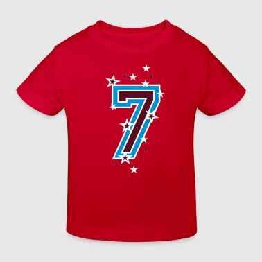 The number seven 7 with  stars  - Kids' Organic T-Shirt
