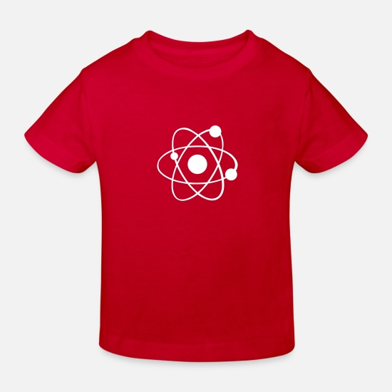 Chemistry Baby Clothes - Atom - Kids' Organic T-Shirt red