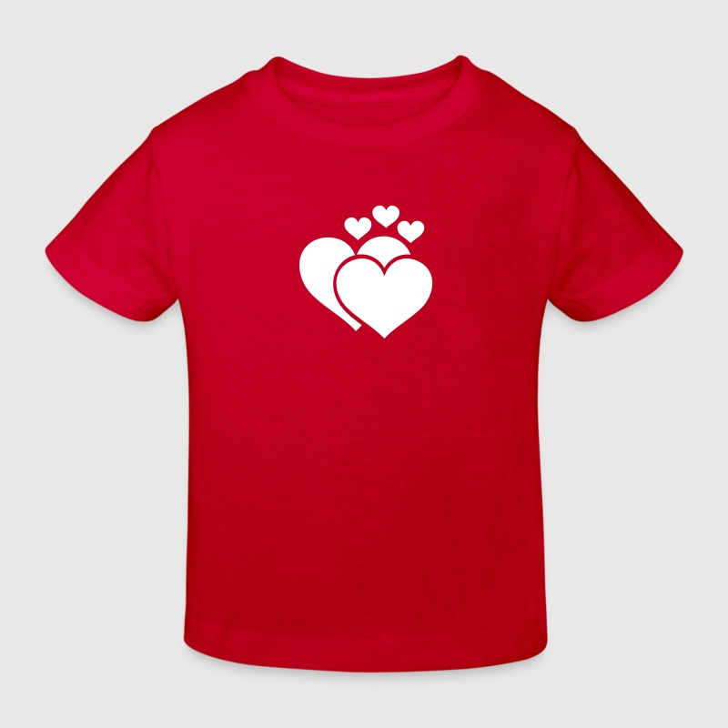 Herz-Familie / family of hearts (1c) - Kids' Organic T-shirt