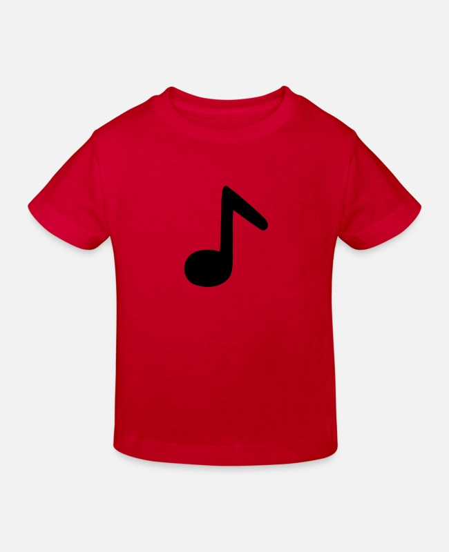 Guitar T-Shirts - eighth note - Kids' Organic T-Shirt red