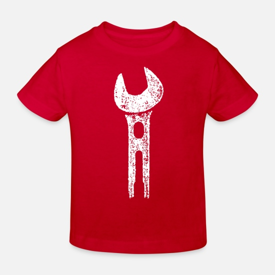 House Keeper Baby Clothes - Wrench / VINTAGE - Kids' Organic T-Shirt red