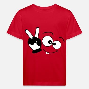 9be85fa070d08 Dibujos Para Niños manos la cara - Camiseta orgánica niño