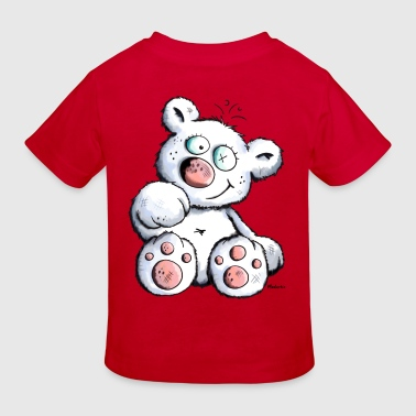 Cute White Teddy Bear - Kids' Organic T-Shirt