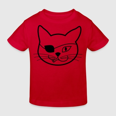 piratenkatze - Kinder Bio-T-Shirt