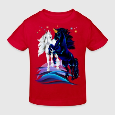 Two Unicorn Stallions - Kids' Organic T-shirt