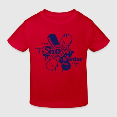 Two crossed Snowboards - Kids' Organic T-shirt