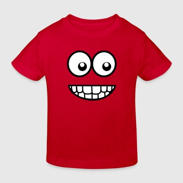 Funny Comic Face (Crazy & Cool) - Smiley - Kids' Organic T-shirt