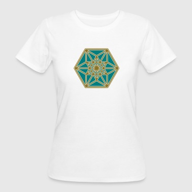 Cuboctahedron, structure of the universe, Fuller - Women's Organic T-Shirt