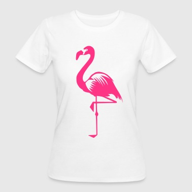 Uccello acquatico animale uccello rosa fenicottero rosa-estate - T-shirt ecologica da donna
