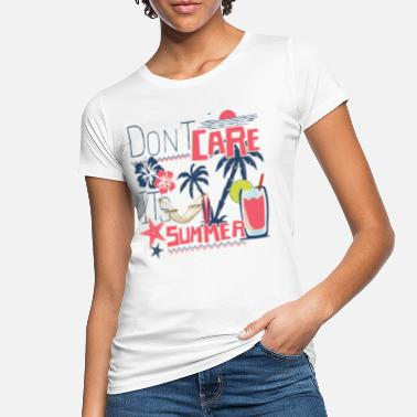 Bad Taste T-shirt SUMMER DO NOT CARE - Maglietta ecologica donna