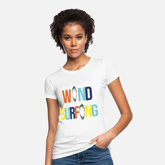 Wind T-Shirts - Wind Surfing - Frauen Bio T-Shirt Weiß
