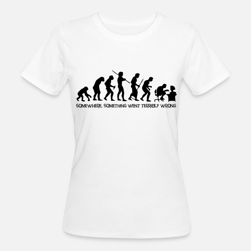 Geek T-Shirts - The evolution of man - Women's Organic T-Shirt white