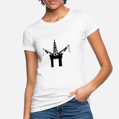 Oil Rig Oil rig in the sea - Women's Organic T-Shirt