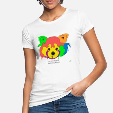 Digital Art Be yourself, be different - Red Panda - Women's Organic T-Shirt