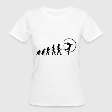 Turnen Evolutie Evolutie Gymnastiek Turnen Gymnastiek Sport - Vrouwen Bio-T-shirt