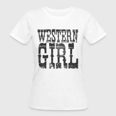 Western Girl Black - Frauen Bio-T-Shirt
