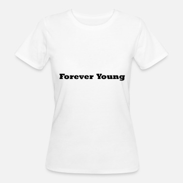 Forever Young FOREVER YOUNG musta - Naisten luonnonmukainen t-paita