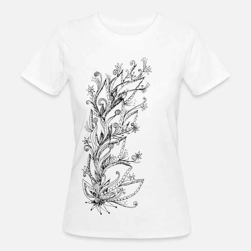 Nature Collection T-Shirts - Jungle Flower, forest, summer, vacation, beach - Women's Organic T-Shirt white
