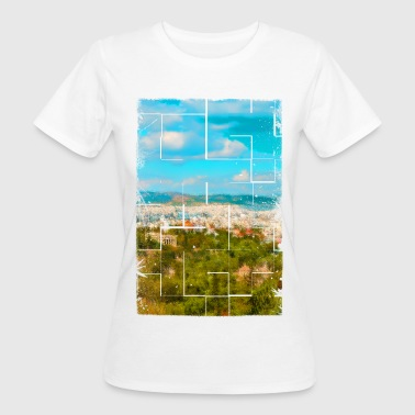 Ancient Greece A distant view of ancient Athens in Greece - Women's Organic T-Shirt