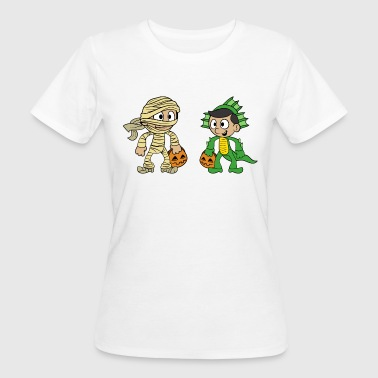 Trex Monster Halloween Pumpkin Kids Mummy Dragon Trex Costume - Women's Organic T-Shirt